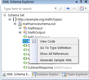 Generate Sample XML